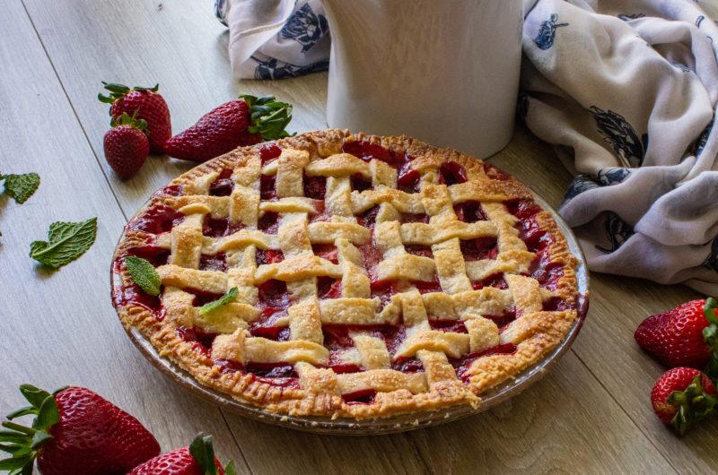 Vegan Fresh Strawberry Pie