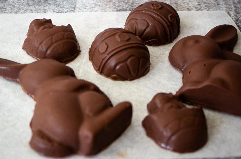 Vegan Salted Caramel Easter Chocolates